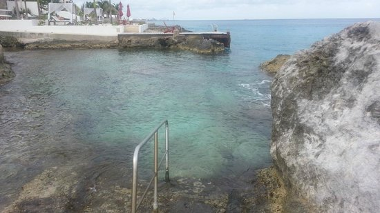Hotel B Cozumel: One of the entrances into the ocean - be careful - sea urchins here
