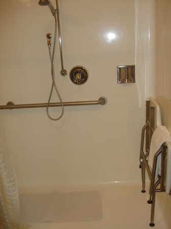 Candlewood Suites New Bern: Rolling Shower Bathroom