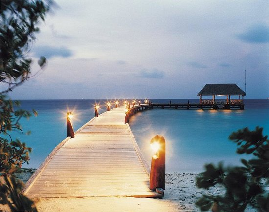 Cocoa Island by COMO: Arrival Jetty At Night