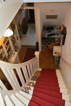 The Collector Bed & Breakfast: Lovely antique stuffs beside the stairs