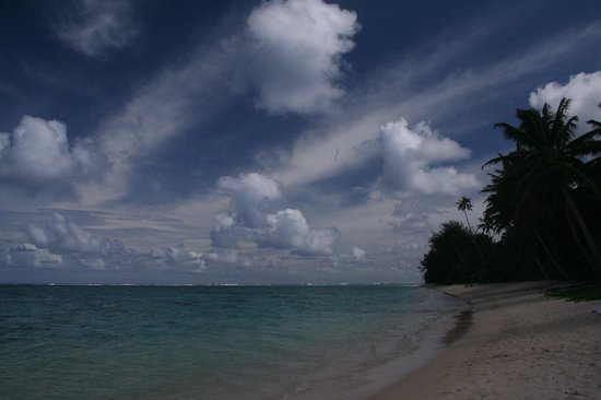 Vaimaanga, Cook Islands: Palm Grove's Beach
