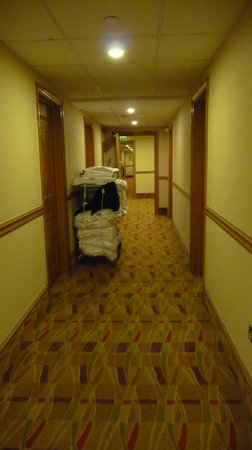 Hilton Bath City: 3rd floor corridor - slightly tired