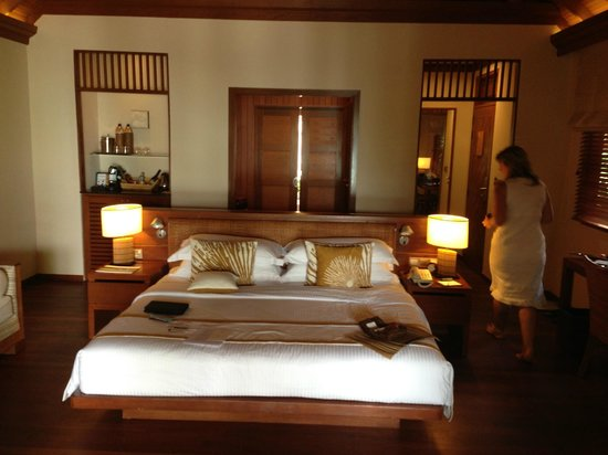 Baros Maldives: View of our deluxe villa bedroom