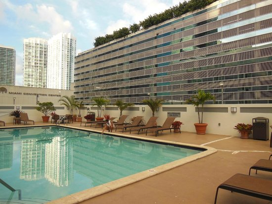 Courtyard by Marriott Miami Downtown: Courtyard - Piscina em Miami Downtown