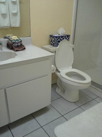 Tarpon Tale Inn: Bathroom in our room - spacious, bright and clean!!