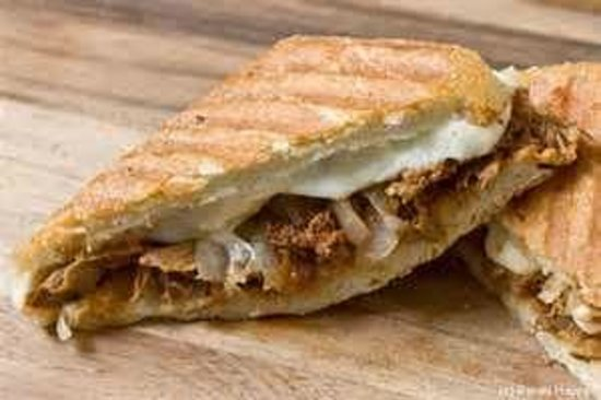 Rock Island, IL: Pulled Pork, Smoked Gouda, and Caramelized Onion Panini