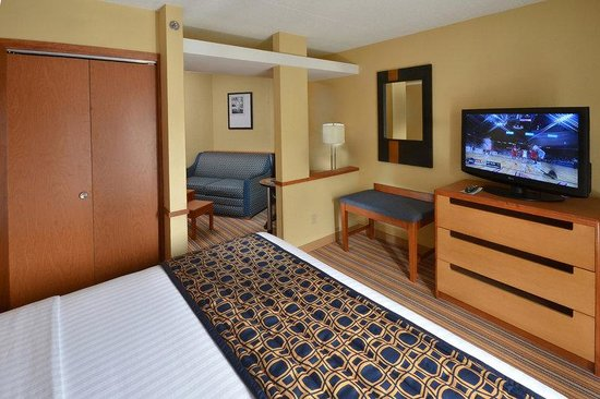 Fairfield Inn &amp; Suites Charlottesville North: KingSuite1