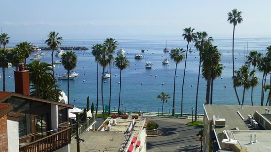 The Avalon Hotel on Catalina Island: View from the observation deck