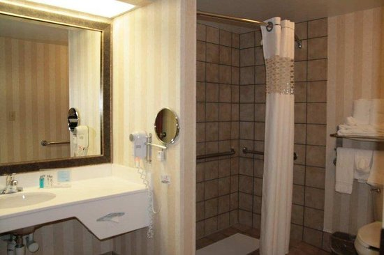 Hampton Inn and Suites Tulsa - Woodland Hills: Accessible Suite Bathroom