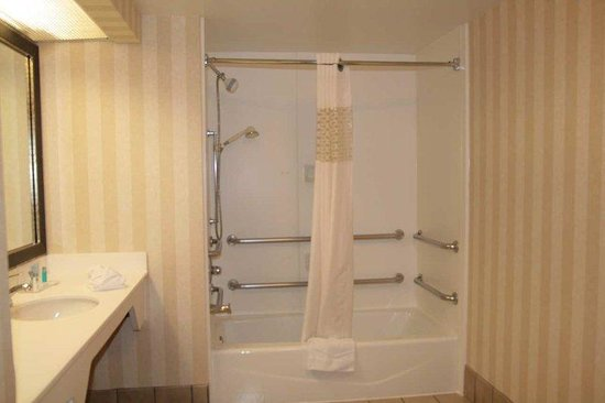 Hampton Inn and Suites Tulsa - Woodland Hills: Accessible Shower