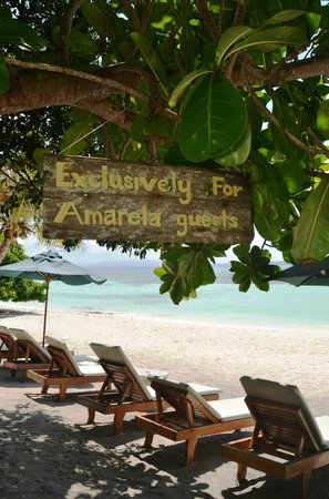 Amarela Resort: Local and private beach
