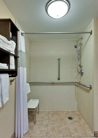 Hampton Inn Gettysburg: Roll-in Shower 