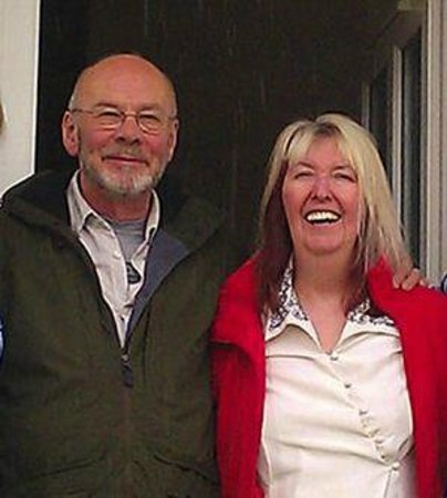 Corsham, UK : Maddy Prior &amp; Rick Kemp (Steeleye Span) guests at Mead Lodge during the Chippenham Folk Festival 