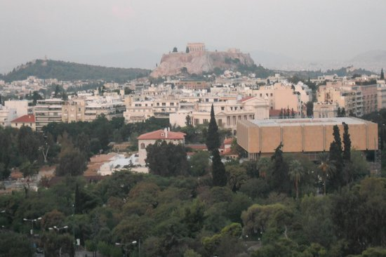 Hilton Athens: View of the Acropolis  from my room