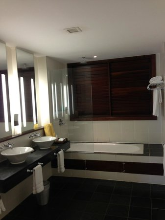 Discovery at Marigot Bay: Bathroom in the room - elegant!