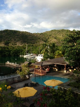 Discovery at Marigot Bay: View looking over one of the pool areas