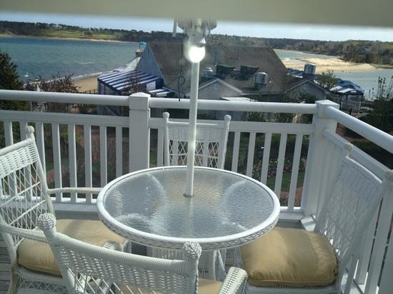 Harwich, MA: seating on balcony