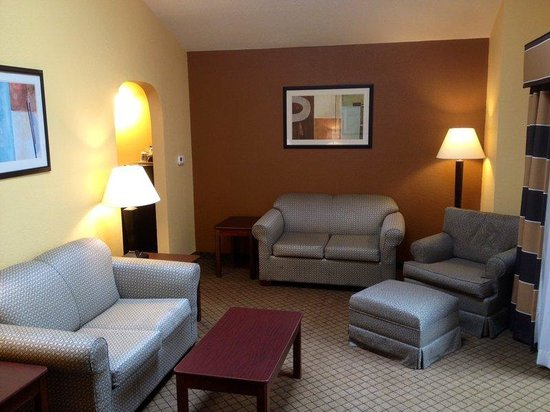 Presidential Suite Living Room at Holiday Inn Express Milton FL