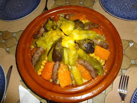 Marrakech-Tensift-El Haouz Region, Fas: le couscous royal!
