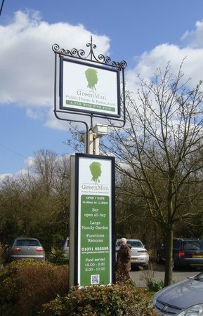 Great Dunmow, UK: Welcome Sign