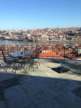 The view of Oporto from the balcony of the sitting room, The Yeatman.