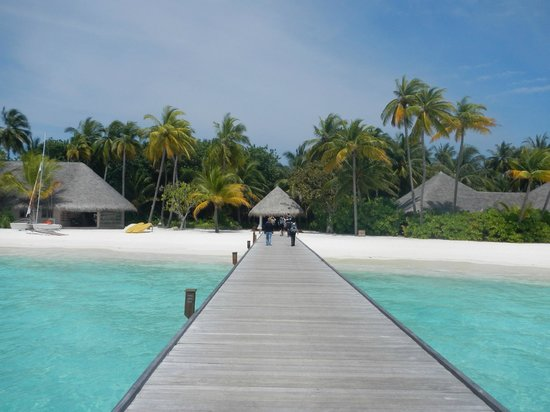 Veligandu Island Resort: arrivo a molo