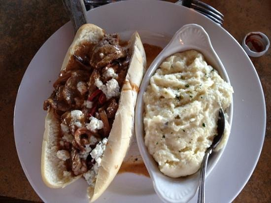 Camdenton, MO: Blue Cheese Philly with Grits
