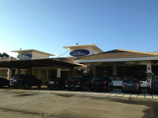 The Lake Hotel Tagaytay: front hotel with spacious parking.. construction is ongoing for basement parking