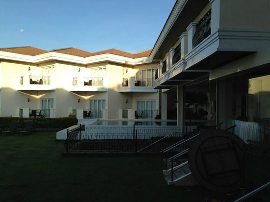 The Lake Hotel Tagaytay: half side of the pool where the veranda in the third floor room is just above it