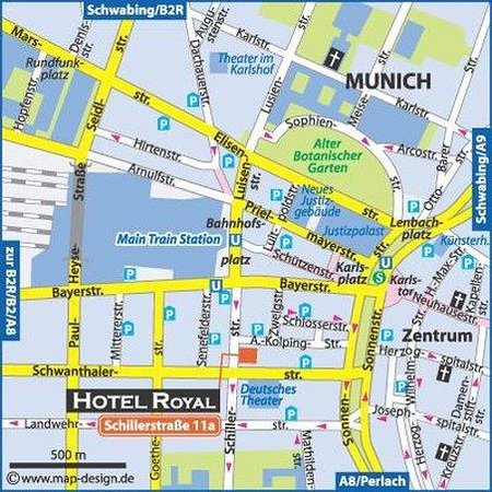 Royal Hotel: location map