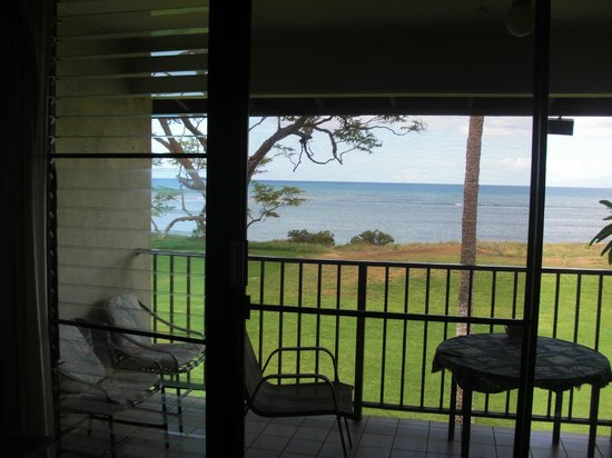 Waiohuli Beach Hale: Great view from the living room.