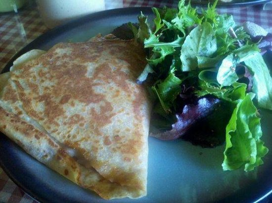Chelan, Waszyngton: Crepe lunch with salad