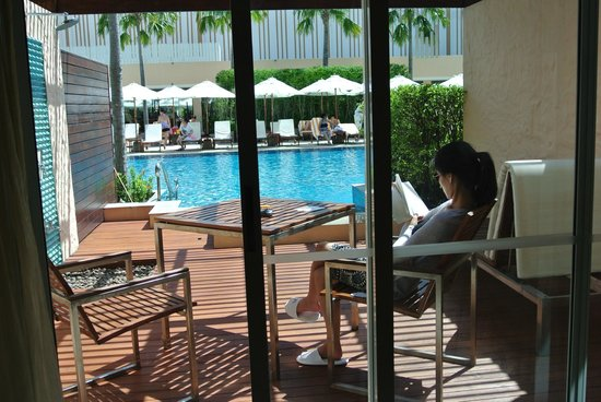 Millennium Resort Patong Phuket: the private jacuzzi isn't visible here but it's right before the pool