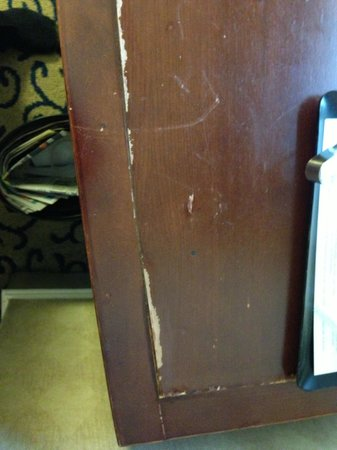 The Boston Park Plaza Hotel &amp; Towers : The desk top, worn and tattered 
