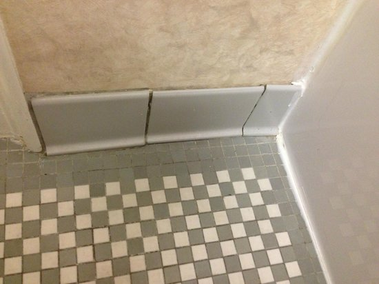 The Boston Park Plaza Hotel &amp; Towers: Tile and missing grout in bathroom