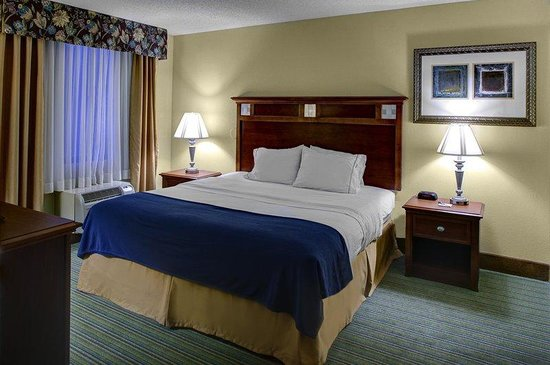 Holiday Inn Express Downtown Richmond: King suite features free wifi, 37 inch TV and free hot breakfast