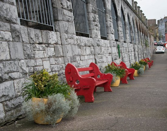 Cobh, : Colourfall seats to admire the view or rest on the way up!