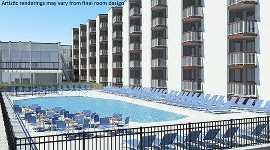 Hotel Icona Diamond Beach: Hotel Pool Rendering