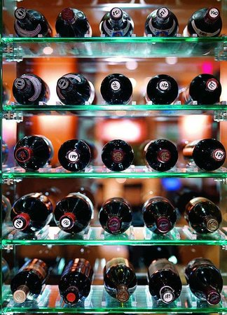 Las Casitas Village, A Waldorf Astoria Resort: Wine Bottles on Display