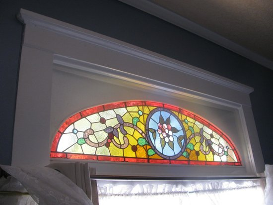 Central City, : Stained glass in Aspen Room