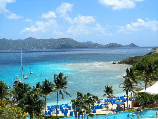 The Ritz-Carlton, St. Thomas: View from the hotel lobby