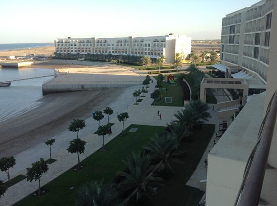 Al Mussanah, Oman : View of the bay in front & adjoining athelete village