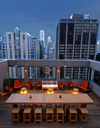 MileNorth, A Chicago Hotel: Rooftop Outside at MileNorth,A Chicago Hotel