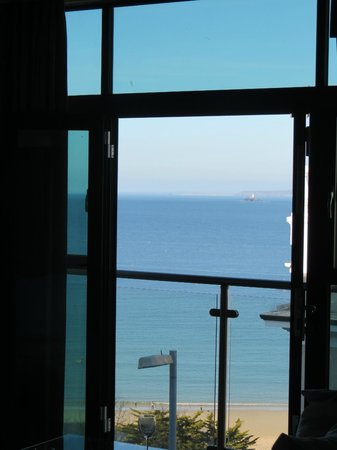 St. Ives Harbour Hotel & Spa: Lounge balcony