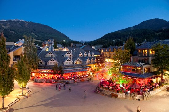 Whistler Village at Dusk. Mike Crane
