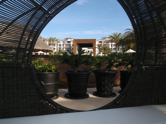 Cabo Azul Resort: One of the many king size lounge beds by the pool