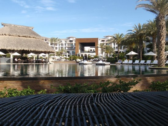 Cabo Azul Resort: Great view of the Recreation Areas with the Cathedral and Suites in the background.  Swim up bar