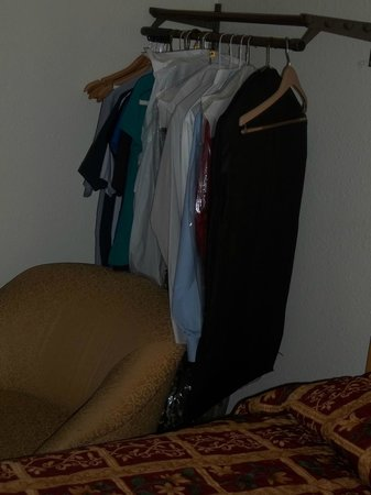 Crystal Lake, IL: The clothes rack in the room