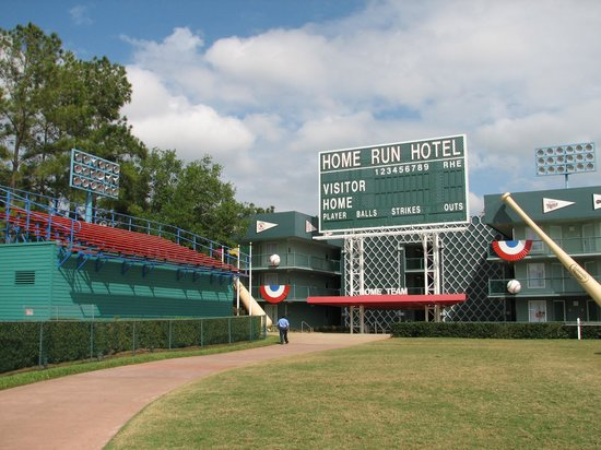 Disney&#39;s All-Star Sports Resort: Home Run Hotel section