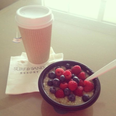 The Surf and Sand Resort: Great cafe on site for quick healthy breakfast options.